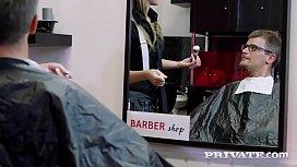 Cutie Teen Hairdresser Lady...