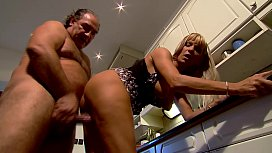 Mature Mom fucks in kitchen - Winnie