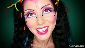 Romi Rain's Makeup Blowjob