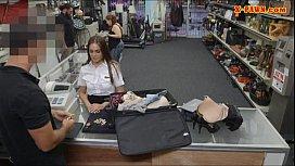 Stewardess sells her stuff...