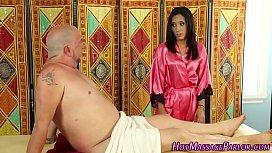 Little masseuse blowjob...