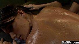One hot lesbian massage...