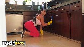 BANGBROS - Hot Latina Maid Marta La Croft Gargles On A Huge Cock