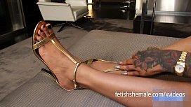 Ebony Shemale Sexy Feet...