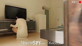 NannySpy Perky breasted babysitter...