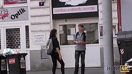 HUNT4K. Adventurous girl is happy to have sex for money in Prague