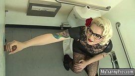 Blonde TS Isabella banged...