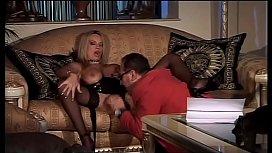 A hot blonde provokes...