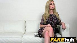 Fake Agent Hot Blonde...
