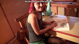 Hot sexy girl suffers...