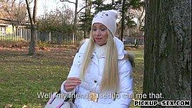 Hot amateur blonde Czech...