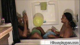 Wet Lesbian Balloon Popping...