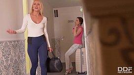 Euro lesbians Aisha and...