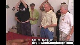 Hot Ebony MILF Gangbanged...
