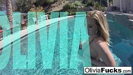 Olivia Austin plays with...