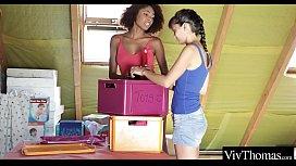 Interracial lesbians Luna and...