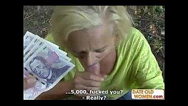 Granny fuck for money...
