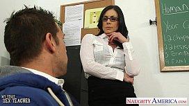 Brunette teacher Kendra Lust...