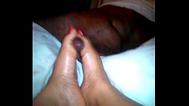 Ebony footjob...