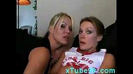 Horny lesbian seduces nervous...