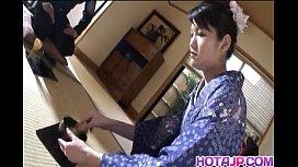 Kimono clad Suzuki Chao...