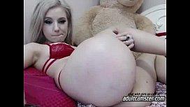 Cute teen showing ass...