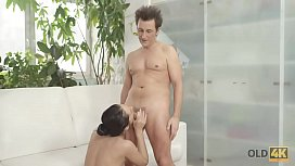 OLD4K. Naughty old lover dragged comely chick into sex full of lust
