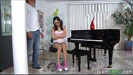 Tiny teen Piano Player...