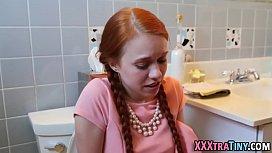 Little redhead facial...