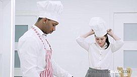 PrivateBlack - Russian Cassie Fire Fucks Big Black Cock Chef