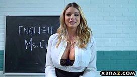 Busty MILF teacher gets...