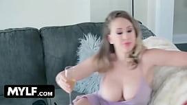 MOM sticks her tits...