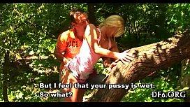 Shapely virgin going wild...