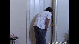 Solo cock masturbation for peeping Tom