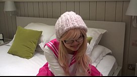 Pink Japanese schoolgirl cosplay...