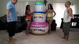 Foursome on a cake...