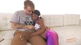 Tiny Black teen With...
