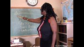 Sexy mature black teacher...