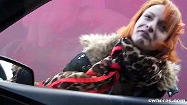 Redhead anorexic punker street...