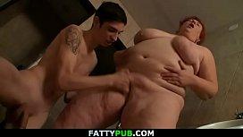 Busty big belly fatty...