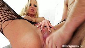 Sexy blonde in hardcore...