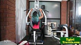Ebony gym trap pisses...