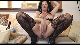Hot milf in lace...