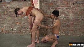 Mickey feeds his slave...