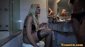 Tranny escorts enjoy threeway...