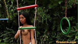 Bigtitted latina trans babe...