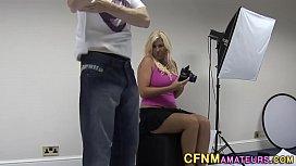 Blonde cfnm brit strokes...