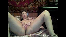 Russian mature masturbates on...