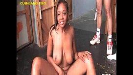 Ebony Babe Takes White...