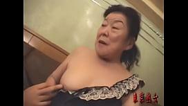 Japanese granny enjoying make...